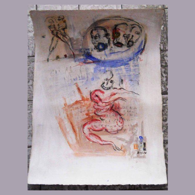 dessin sur papier 76 cm x 56 cm