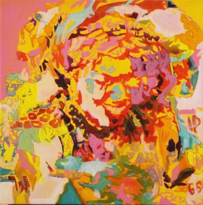(8) Octobre Rose, Acrylique 40x40 cm