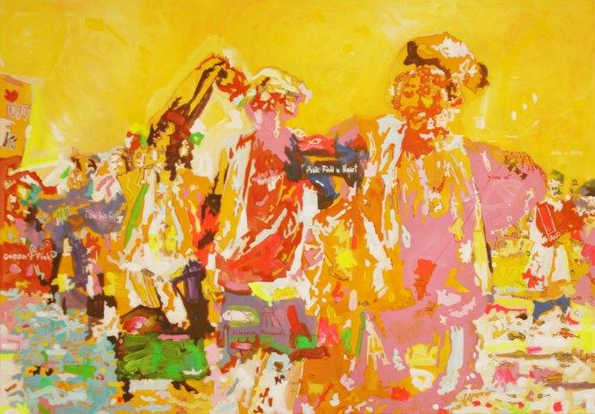 Rythme de la couleur, Acrylique 70x100 cm