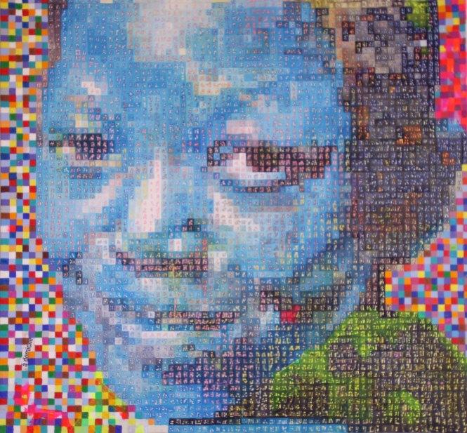 Vision Bleu, Acrylique 92,5x100 cm