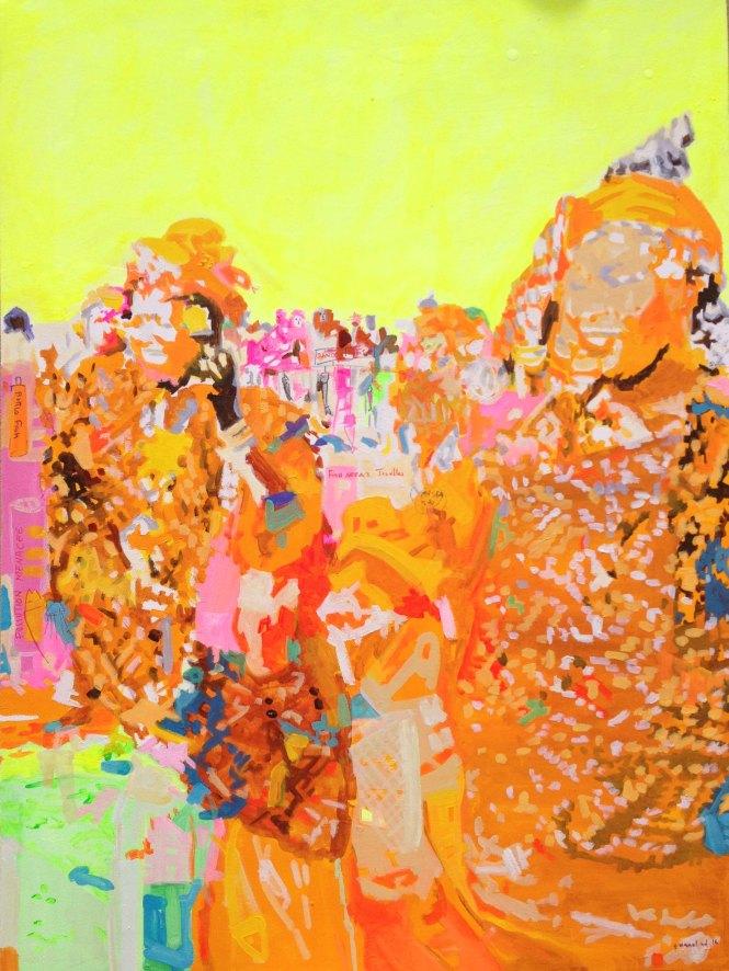 Ambiance, acrylique sur toile, 100x75 cm