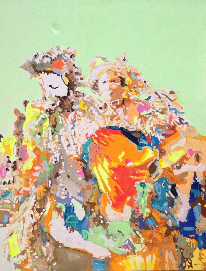 Duo, Acrylique sur toile, 130x100 cm