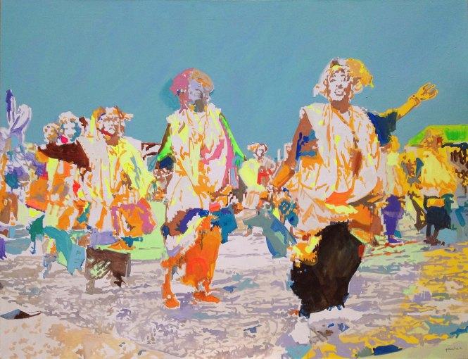 Eblouissement, acrylique sur toile, 130x100 cm