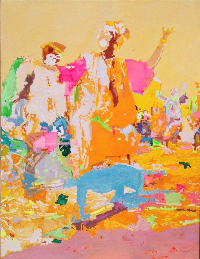 festivité, acrylique sur toile, 130x100 cm (2)