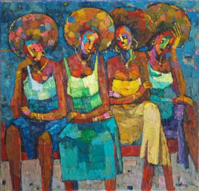 Afro Girls 106 x 102cm