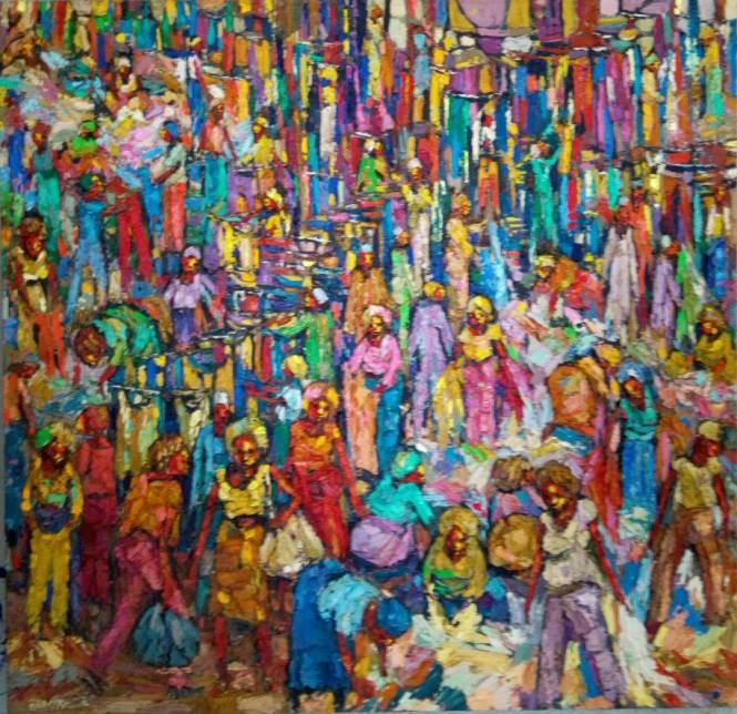 Second hand Market (1) 105 x 108cm