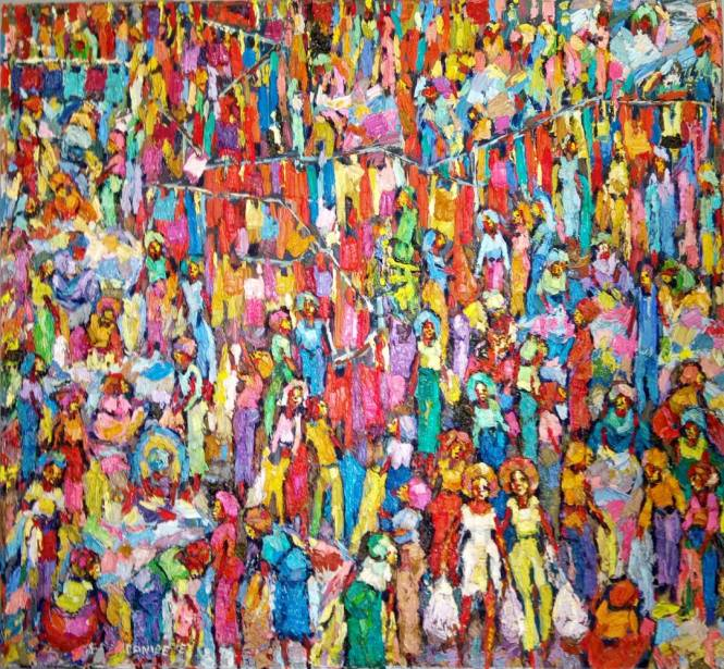 Second Market (2) 110 x 103cm