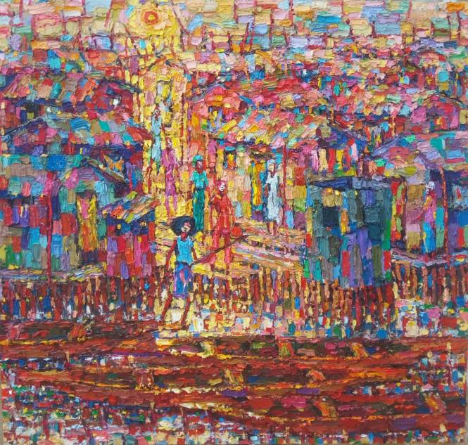 Urban slum (2) 108 x 113cm