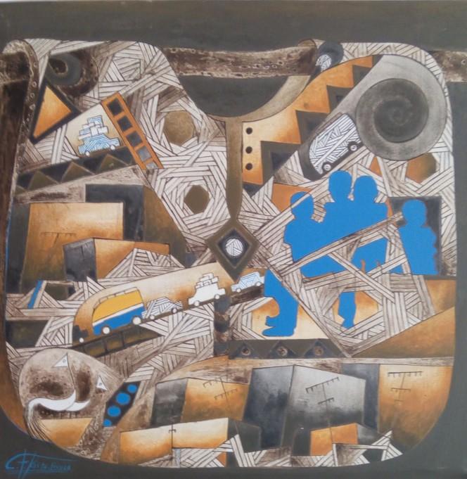 Titre- Heure de pause - Dimensions - 80 - 77
